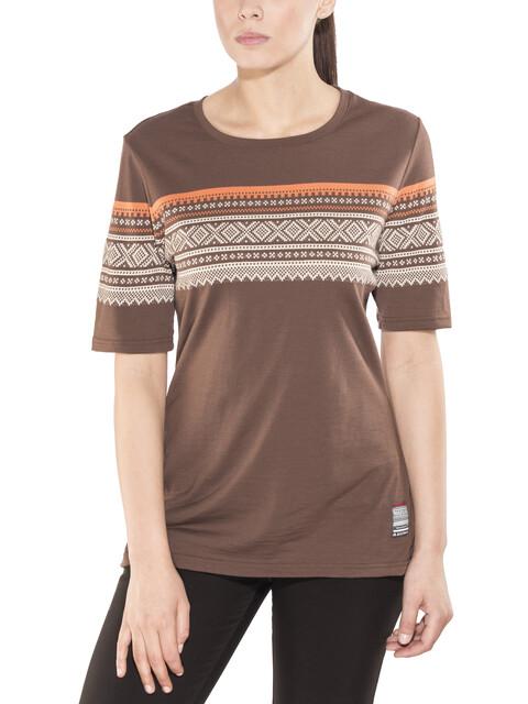 Aclima W's DesignWool Marius T-Shirt fondue fudge